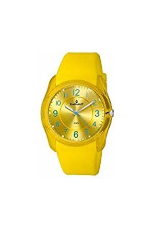 Radiant RA191602 - Men's Leather Strap Watch - Yellow/Grey