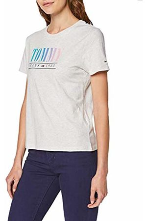 Tommy Hilfiger Women's Tjw Summer Multicolor Tommy Tee T-Shirt, Pale Heather 090