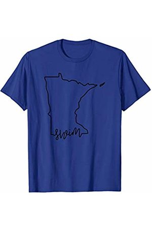 Wesean Swim State of Minnesota Outline with Swim Script ABN517a T-Shirt