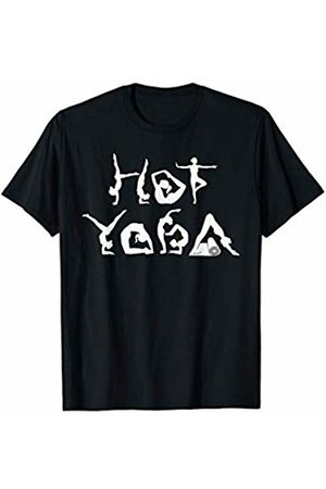 Hot Yoga Gift Tees Funny Hot Yoga Tshirt Yoga Bending Letters Gift Shirt T-Shirt