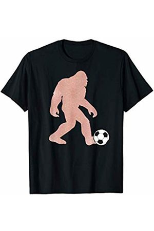Exclusive Bigfoot Tees Co. Bigfoot Soccer Shirt. Rose Gold Sasquatch Funny Sports Game T-Shirt