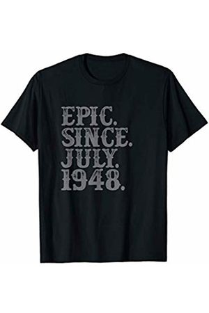 Grunge Cancer Leo Birthday Party Tees Legend Epic Since July 1948 Birth Year Legendary Star Gifts T-Shirt
