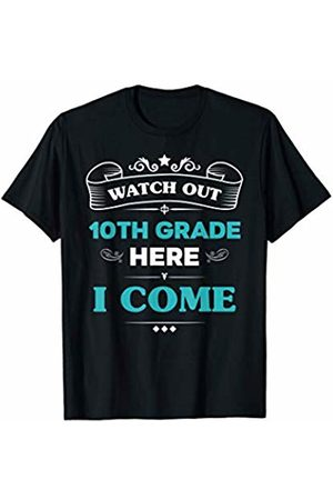 VI59 Family Shirts Watch Out 10th Grade Here I Come First Day School Cute Tee