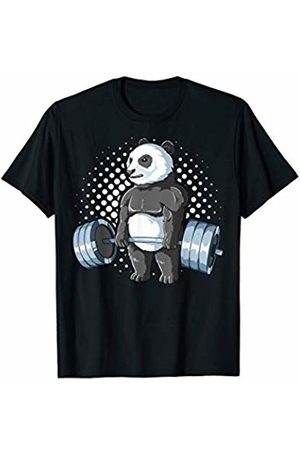 Deadlifting Zoo Weightlifting Panda Deadlifting Panda Powerlifting Gym T-Shirt