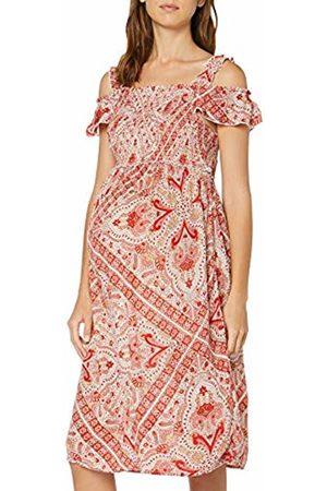Dorothy Perkins Women's Crinkle Shirred Bardot Dress- Paisley Print