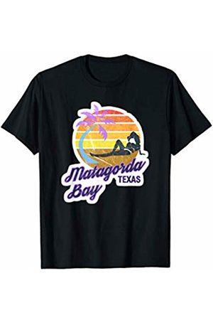 VISHTEA Retro Vintage TEXAS MATAGORDA BAY Vacation Summer Tee T-Shirt