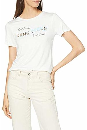 Dorothy Perkins Women's Ivory Long Beach Motif T Shirt