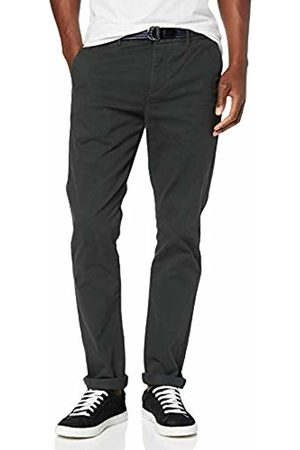 Scotch&Soda Men's AMS Blauw Stuart Chino with Belt in Stretch Peached Quality Trouser, ((Charcoal 0560)