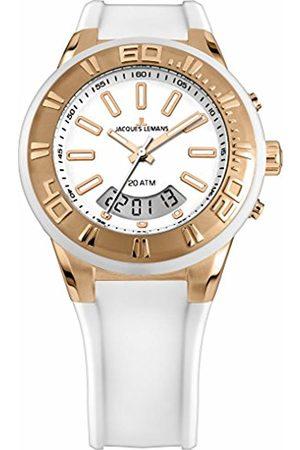 JACQUES LEMANS Unisex Analogue-Digital Quartz Watch with Silicone Strap 1-1786H