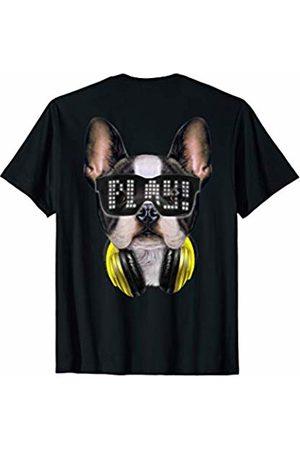 Fox Republic T-Shirts Cute French Bulldog as DJ wearing Sunglass and Headphone T-Shirt