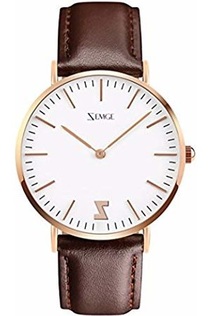 ZEMGE 40mm Man Women Watches Ultra Thin Quartz Analogue Waterproof Wrist Watch Unisex Business Casual Simple Classic Design Dress Rose Gold Tone Wristwatch with Stainless Steel Case DW Style ZC0601M