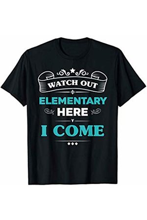 VI59 Family Shirts Watch Out Elementary Here I Come First Day School Cute Tee