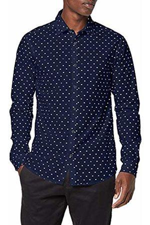 Scotch&Soda Men's Slim Fit Crispy L/s Shirt with Prints Casual