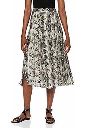 warehouse Women's Snake Print Pleated Midi Dress