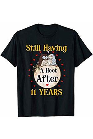 Medotukito 11th Wedding Anniversary Gift Love Owls Couples Shirt