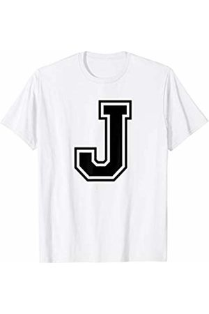 Capital Letter Sport Alphabet Letter J Black Capital Name Initial School Sport Team T-Shirt