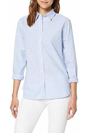 Tommy Hilfiger Women's Ebru Shirt Ls W3 Blouse, (Soft We STP Yd/Ultramarine 492)