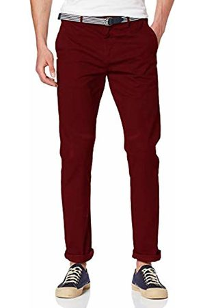 Scotch&Soda Men's AMS Blauw Stuart Chino with Belt in Stretch Peached Quality Trouser, ((Nomad 3127)
