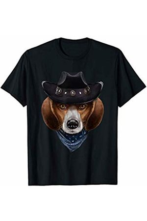 Fox Republic T-Shirts Beagle Dog in Cowboy Hat and Bandana T-Shirt