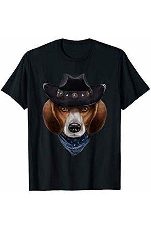 Fox Republic T-Shirts Beagle Dog in Cowboy Hat and Bandana T-Shirt
