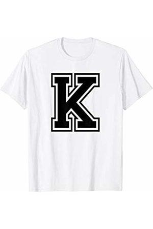 Capital Letter Sport Alphabet Letter K Black Capital Name Initial School Sport Team T-Shirt
