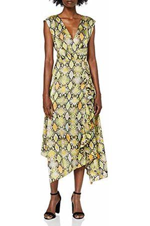 warehouse Women's Cowl Back Snake Print Party Dress