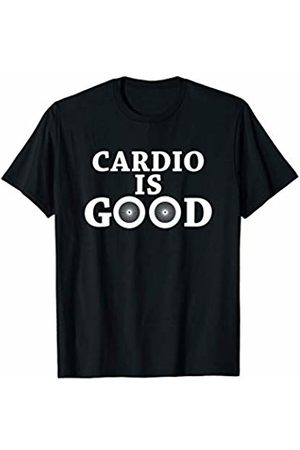 Funny Bicycle Quotes Statement Cardio Is Good Sports Fitness Gym Wear Cyclist T-Shirt