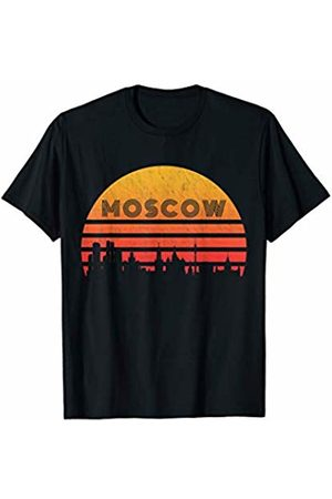 Classic Vintage Retro T-Shirts Vintage Retro Sunset Moscow Russia T-Shirt
