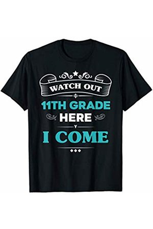 VI59 Family Shirts Watch Out 11th Grade Here I Come First Day School Cute Tee
