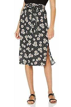 Dorothy Perkins Women's Daisy Spot Tie Midi Skirt