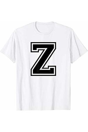 Capital Letter Sport Alphabet Letter Z Black Capital Name Initial School Sport Team T-Shirt