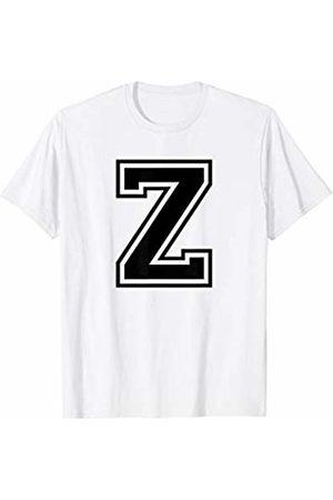 Capital Letter Sport Alphabet Letter Z Black Capital Name Initial School Sport Team T-Shirt