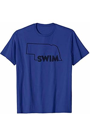 Wesean Swim State of Nebraska Outline with Swim Text ABN571a T-Shirt