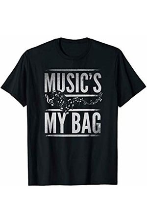 Funny Students At School Novelty Shirts & Apparel Funny Music's My Bag With Musical Notes Band Teacher T-Shirt
