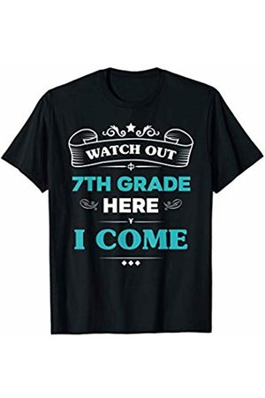 VI59 Family Shirts Watch Out 7th Grade Here I Come First Day School Cute Tee
