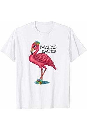 HustlaGirl Fabulous Teacher Flamingo Shirt Teacher Gifts T-Shirt