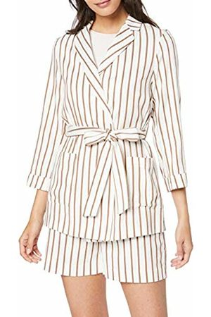 Dorothy Perkins Women's Yd Stripe Belted Jacket