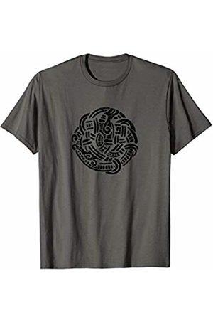 Jimmo Designs Ancient Viking Midgard Serpent Amulet Nordic Lore Lovers T-Shirt