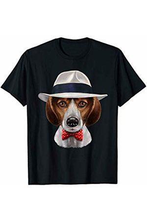 Fox Republic T-Shirts Beagle Dog in Fedora Hat T-Shirt