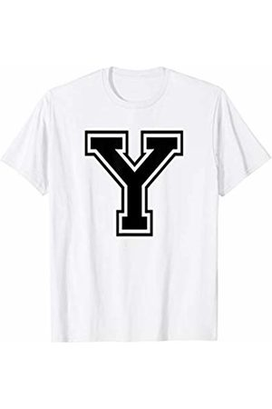 Capital Letter Sport Alphabet Letter Y Black Capital Name Initial School Sport Team T-Shirt