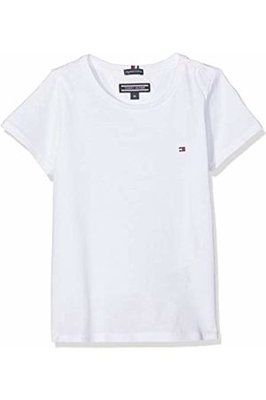 Tommy Hilfiger Girls Basic Cn Knit S/s T-Shirt, (Bright 123)