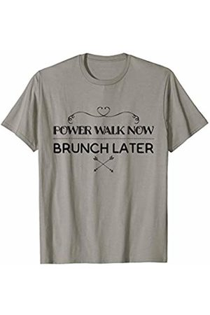 Workout for points Fitness Apparel Power Walk Now Brunch Later Funny Fitness Clothing T-Shirt