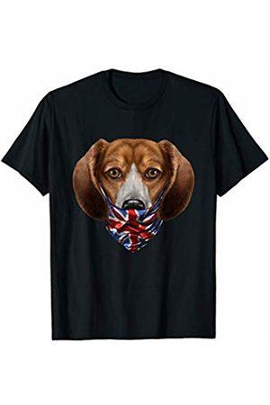 Fox Republic T-Shirts Beagle Dog in Flag of United Kingdom Bandana T-Shirt