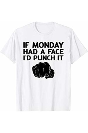 Unique Boxing Coworker Gifts If Monday Had A Face I'd Punch It Funny Anti-Work Training T-Shirt