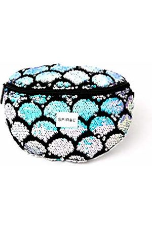 Spiral Iridescent Shell Sequins Bum Bag Sport Waist Pack, 23 cm