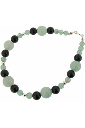 Earth Women Bracelets - Aventurine and Black Onyx Beaded Bracelet at 19cm in Length