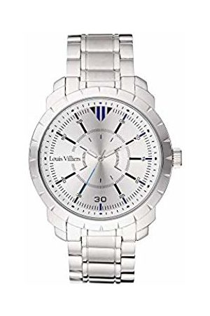 Louis Villiers Unisex-Adult Analogue Classic Quartz Watch with Stainless Steel Strap LV1037