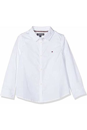 Tommy Hilfiger Girls Stretch Poplin Shirt L/s Blouse, (Bright 123)