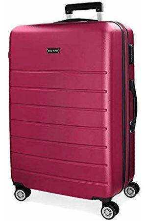 Roll Road Magazine Fuchsia Medium Suitcase