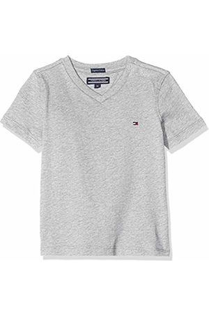 Tommy Hilfiger Boys Basic Vn Knit S/s T-Shirt, ( Heather 004)